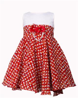 Soft Touch STSS15023 Red Girls Frock