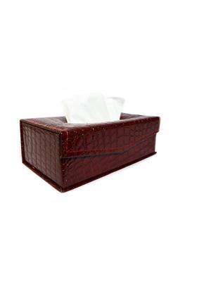 Sushi T14 Maroon Tissue Box