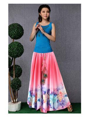Fastkharidi Svs-Fkfbsk014 Pink Women Skirt