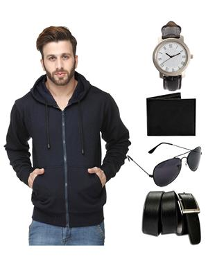 Ansh Fashion Wear SW-2-WPBS Men Sweatshirt,Watch,Wallet,Sunglass With Belt