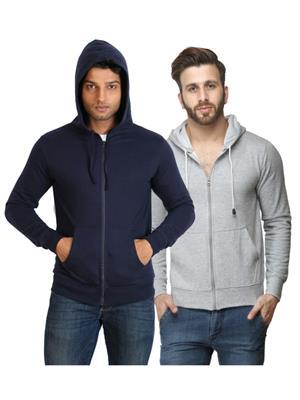 Ansh Fashion Wear SW-2CM-DBGR Blue-Grey Men Sweatshirt Set Of 2
