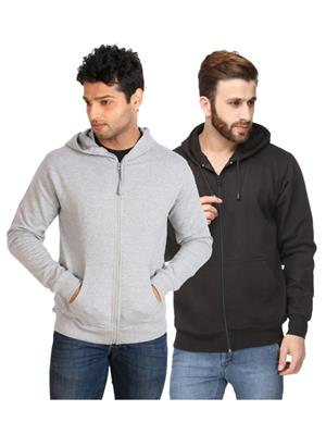 Ansh Fashion Wear SW-2CM-GRBK Black-Grey Men Sweatshirt Set Of 2