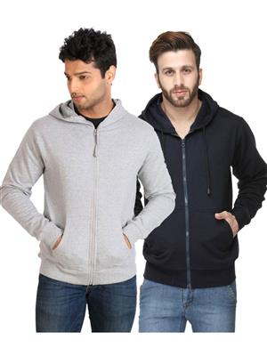 Ansh Fashion Wear SW-2CM-GYDB Blue-Grey Men Sweatshirt Set Of 2
