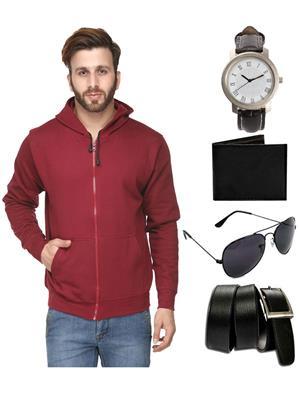 Ansh Fashion Wear SW-3-WPBS Men Sweatshirt,Watch,Wallet,Sunglass With Belt