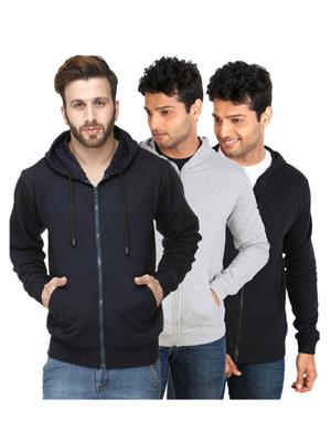 Ansh Fashion Wear SW-3CM-DB-GR Multicolored Men Sweatshirt Set Of 3