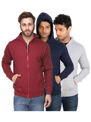 Ansh Fashion Wear SW-3CM-M-D Multicolored Men Sweatshirt Set Of 3