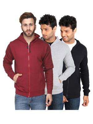 Ansh Fashion Wear SW-3CM-mgb Multicolored Men Sweatshirt Set Of 3