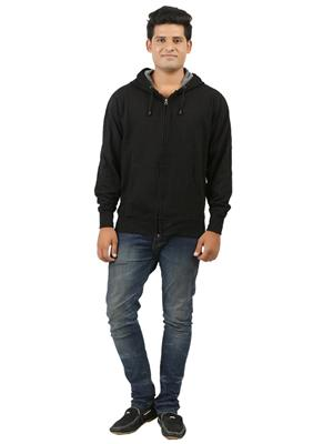 Ansh Fashion Wear SW-3 Black Men Sweatshirt
