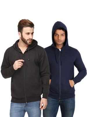 Ansh Fashion Wear SW-BLB Black-Blue Men Sweatshirt Set Of 2