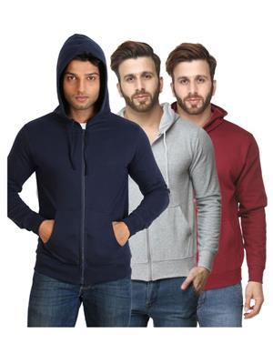 Ansh Fashion Wear SW-DB-G Multicolored Men Sweatshirt Set Of 3