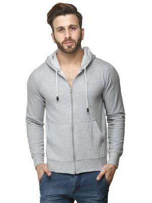Ansh Fashion Wear SW-1 Grey Men Sweatshirt