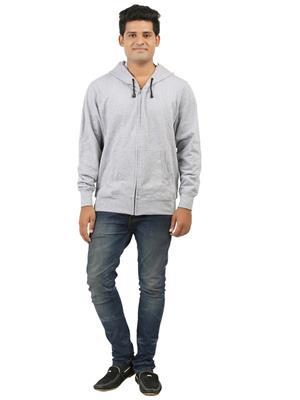 Ansh Fashion Wear SW-3 Grey Men Sweatshirt