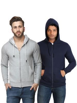 Ansh Fashion Wear SW-Gdb Blue-Grey Men Sweatshirt Set Of 2