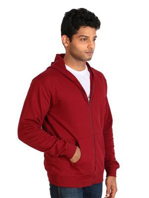 Ansh Fashion Wear SW-3 Maroon Men Sweatshirt