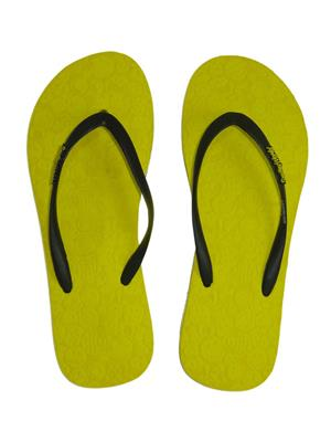 Smiley World SW410-1 Yellow Women Flip Flops