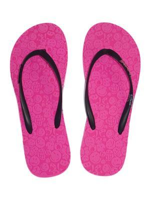 Smiley World SW410-2 Pink Women Flip Flops