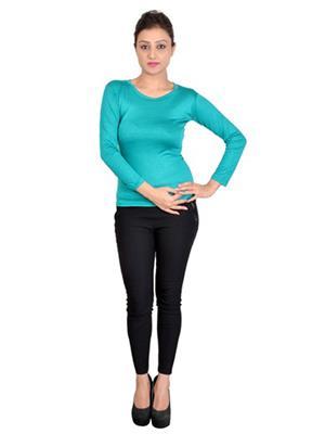 SWEEKASH SWEE2008-1002 Blue Women T-Shirt