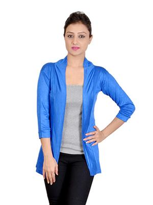 Sweekash Fashionista SWEE2008-26 Blue Women Shrug