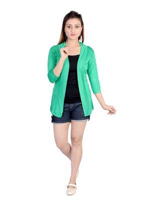 Sweekash Fashionista SWEE2008-30 Green Women Shrug