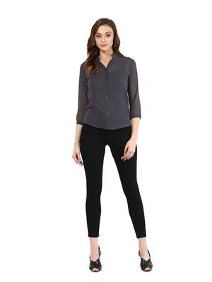 Seeyaar Sy1013 Gray Women Shirt