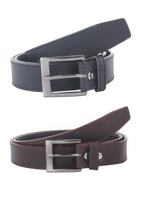SRS San005 Black-Brown Men Belt Combo Pack