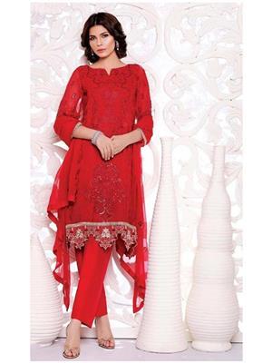 Citizenmart Sh003 Red Women Dress Material