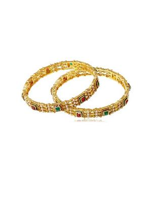 SHIVKRUPA ART JEWELLERS Shiv-09  Golden Womens Bangles