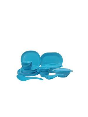 Incrizma Square-Turquoise Blue Dinner Set