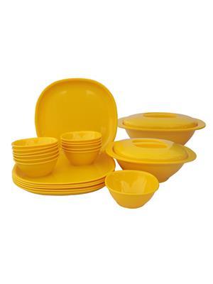 Incrizma Square-Yellow Dinner Set