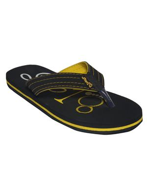 Step 18 5001 Black Yellow Men Flipflop