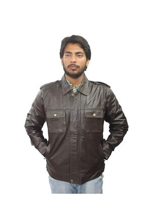 Tarana Leather Art T-C black Men Jacket