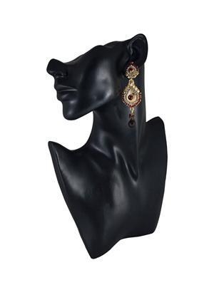 Traditional 2 Trendy T2T179913 Maroon Women Alloy Metal Handwork Earring