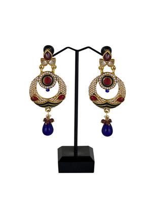 Traditional 2 Trendy T2T181426 Maroon Women Alloy Metal Handwork Earring