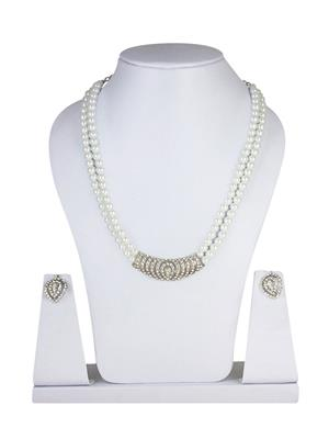 Traditional 2 Trendy T2T272989 White Women Alloy Metal Handwork Necklace Set