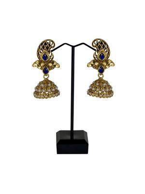Traditional 2 Trendy T2T284564 Blue Women Alloy Metal Handwork Earring