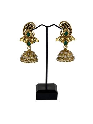 Traditional 2 Trendy T2T521564 Green Women Alloy Metal Handwork Earring