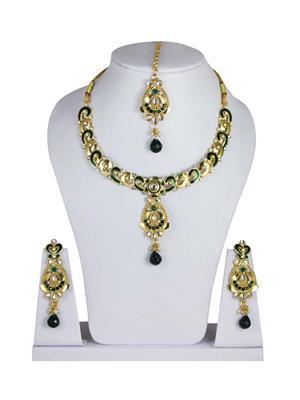 Traditional 2 Trendy T2T521689 Green Women Alloy Metal Handwork Jewelry Set