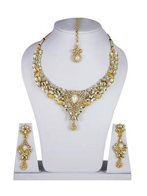 Traditional 2 Trendy T2T864620 White Women Alloy Metal Handwork Jewelry Set