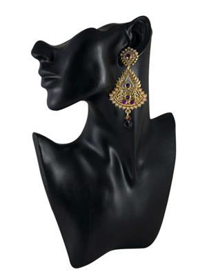 Traditional 2 Trendy T2T904757 Violet Women Alloy Metal Handwork Earring