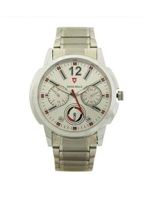Swiss Bells  TA-557SDStChain Silver Men Analog Watch