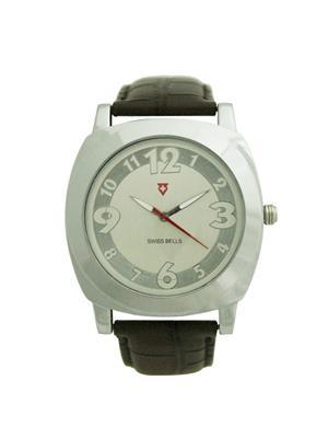 Swiss Bells  TA-565WSDBrStrap Silver Men Analog Watch