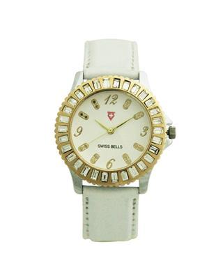 Swiss Bells  TA-577wdwstrap White Women Analog Watch