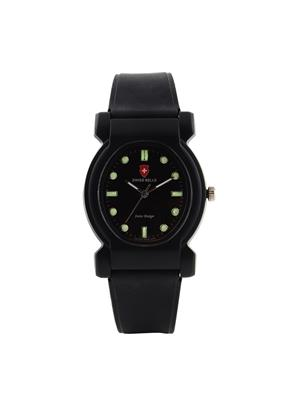 Swiss Bells  TA-641BlkDBlkStrap Black Women Analog Watch
