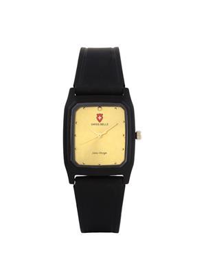 Swiss Bells  TA-643GDBlkStrap Gold Women Analog Watch