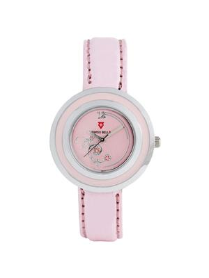 Swiss Bells  TA-680PnkDPnkStrap Pink Women Analog Watch