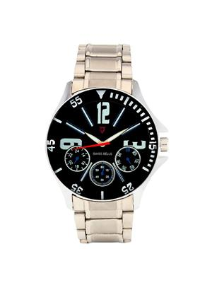Swiss Bells  TA-690BlkDStCh Black Men Analog Watch