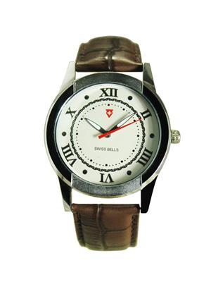 Swiss Bells  TA213Strap White Men Analog Watch