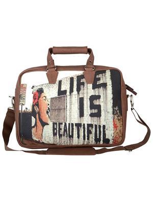 The Backbencher TBBLB323 Brown Messenger Bag