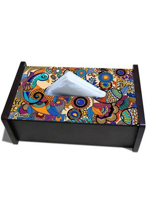 Kolorobia TBPE02  Peacock Tissue Box