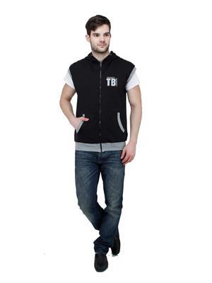 Trendy Bandey TBS-15509BK Black Men Sweatshirt